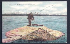 Fish Pot Hot Springs Yellowstone Park Wyoming unused c1920
