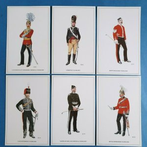 The British Army The Yeomanry Cavalry Postcards Set of 6 by Geoff White Ltd 86Z