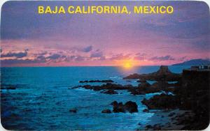 Mexico Baja California Tijuana Sunset Postcard