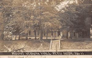 Peru Nebraska~Mount Vernon Hall~State Normal School~Under M.E. Church~1909 RPPC