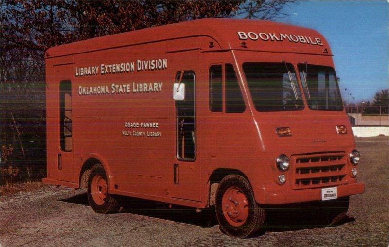 Osage Pawnee OK Oklahoma Library Van Panel Truck 1950s Postcard