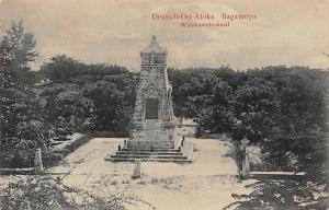 German East Africa Tanzania Bagamoyo, Wissmanndenkmal, Statue, Postcard
