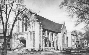 Franklin Pennsylvania First Presbyterian Church Antique Postcard K98949