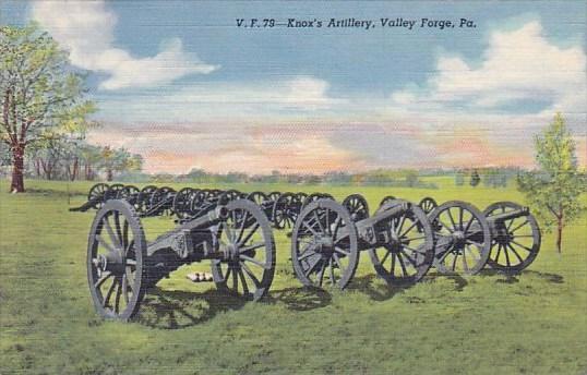 Pennsylvania Knox's Artillery Valley Forge Pennsylvania