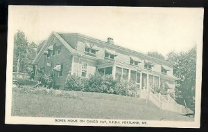 Portland, Maine/ME Postcard, Gover House On Casco Bay, RFD 4