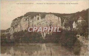 Old Postcard Roque Gageac Rocks Marqueyssac Chateau Malartrie