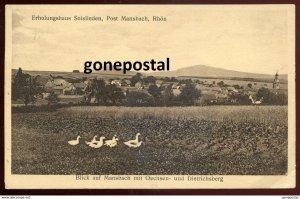 dc1586 - GERMANY Post Mansbach 1932 Erholungshaus Soislieden