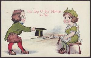 Top O the Mornin,Man,Woman Postcard