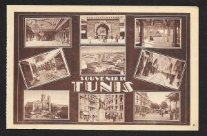 Multi View Souvenir Tunis Tunisia unused c1920's
