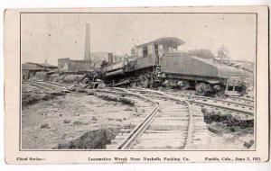 Flood Series, Train Wreck, Nuckolls Packing Co. Pueblo Colo
