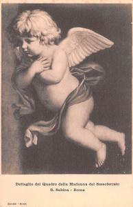 Spain Old Vintage Antique Post Card Dettaglio del Quadro della Madonna del Sa...