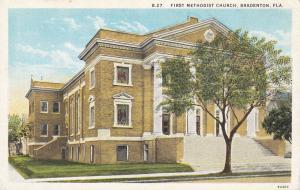 BRADENTON, Florida, 1910s; First Methodist Church