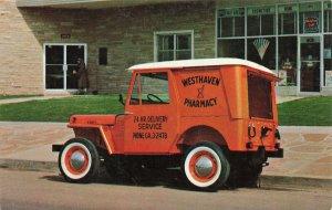 Jeep Dispatcher Model DJ-3A Hardtop Pharmacy Delivery WestHaven Postcard