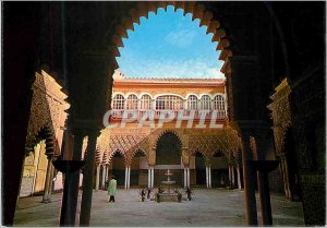 Postcard Modern Sevilla royal palaces of court ladies