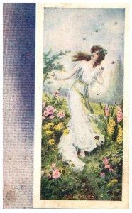 Victorian  Woman , Butterflies