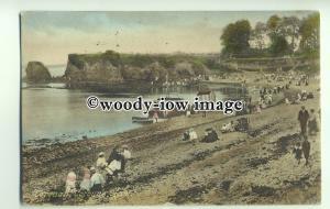 tp9355 - Devon - Enjoying the Beach at Corbyne's Head, in Torquay - postcard
