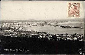 spain, PALMA, Mallorca, Panorama (1931) RPPC Stamp