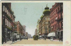 1909 postcard, Main street, Springfield. Mass
