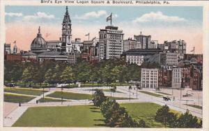 Pennsylvania Philadelphia Birds Eye View Of Logan Square and Boulevard