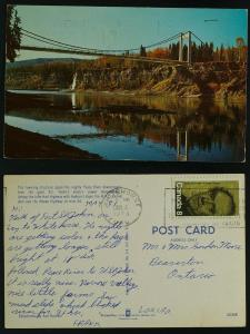 Bridge spanning Peace River , Whitehorse Yukon 1973
