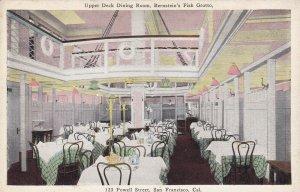 SAN FRANCISCO, California 00-10s Upper Deck Dining Room, Bernstein's Fish Grotto