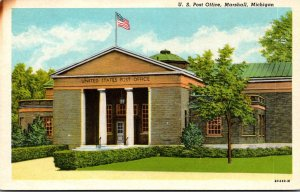 Michigan Marshall Post Office Curteich