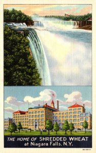 New York Niagara Falls Home Of Shredded Wheat