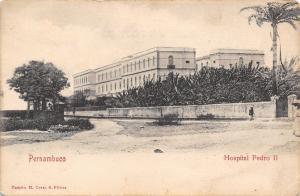 Recife Brazil~Pernambuco~Pedro II Hospital~Coelhos~Lady at Wall~1905 B&W PC
