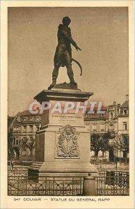 347 Old Postcard Colmar statue of General rep