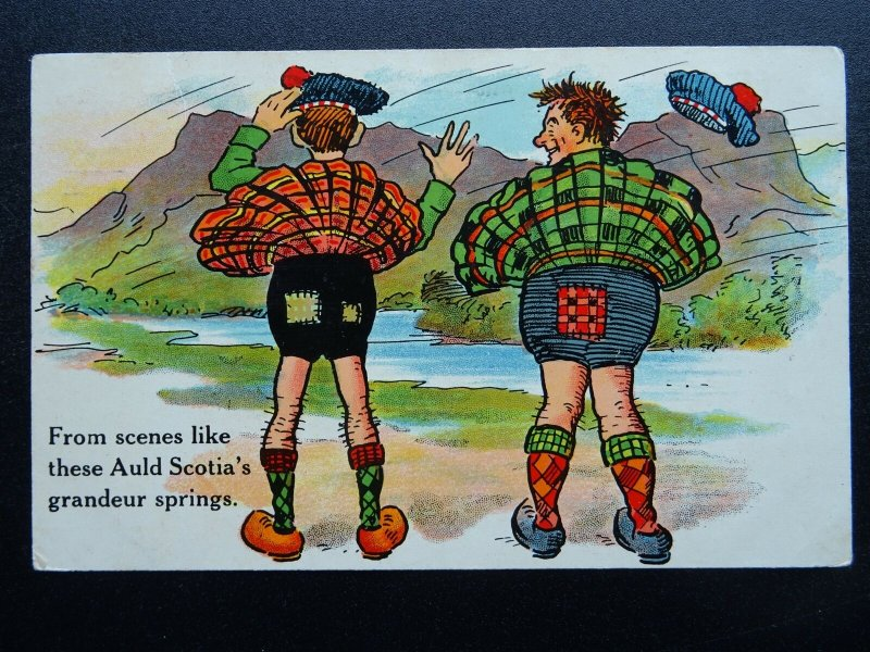 Scottish Comic SCENES LIKE THESE AULD SCOTIA..... c1912 Postcard by National