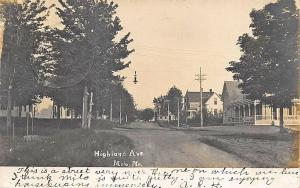 Milo ME Highland Avenue Real Photo Card