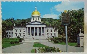 State Capitol Montpelier Vermont Vintage Postcard