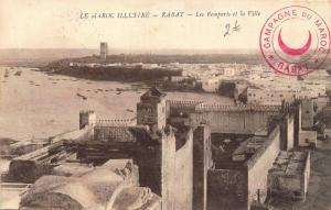 Morocco Rabat Les Remparts et la Ville General view Postcard