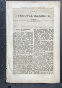 Rare Old 1846 John H. Noyes Spiritual Mag Vol 1.7 Putney VT Christian Communism