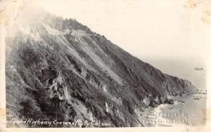 Crescent City California Redwood Highway Beach Scene Real Photo Postcard J70911