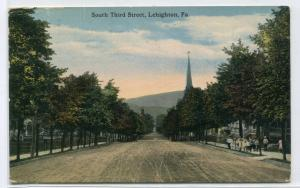 South Third Street Scene Lehighton Pennsylvania 1917 postcard