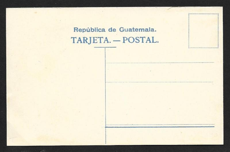 GUATEMALA Stamps on Postcard w/Coa of Arms Unused c1910s