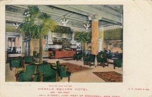 NEW YORK CITY , New York, 1906; Office & Foyer, Herald Square Hotel
