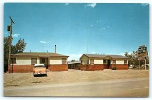 Postcard CO Montrose Casa Verde Motel 1950's Old Car