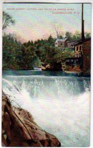 Moore Carpet Factory & Falls, Magog River, Sherbrooke PQ