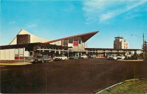 Cheyenne Wyoming~Air Terminal~Old Cars~1960's Postcard
