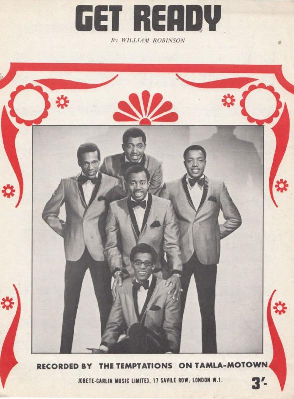 The Temptations Beauty Is Only Skin Deep from Gordy Record 45 XL Sheet Music