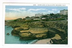 La Jolla, California to Milwaukee, Wisconsin 1934 La Jolla Cliffs Postcard