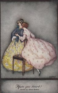 Art Deco ; Jennie HARBOUR ; Have you Heard?, 1910s ; TUCK 3801