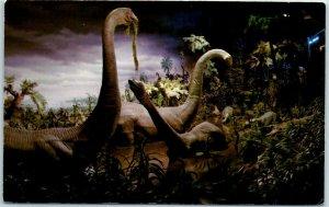 DISNEYLAND California Postcard PRIMEVAL WORLD Animatronic Dinosaurs c1960s