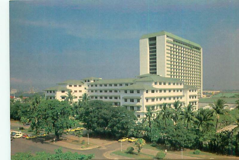 Postcard Philippines Manila Hotel Aerial View Address of Prestige  # 2738A