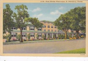Florida St Petersburg Hotel Martha Washington 1946 Curteich