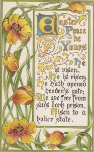 Flowers. Easter Message Tuck Easter Flowers Series PC # 752