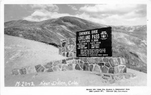 G23/ Dillon Colorado RPPC Postcard 1959 Loveland Pass Continental Divide