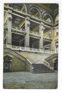 1908 Interior of New City Hall, St. Louis, Missouri UDB Postcard
